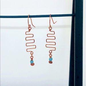 Wild & Friel copper handcrafted earrings